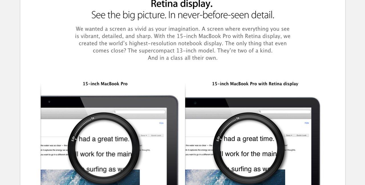 Mire jó a Retina Ready design?